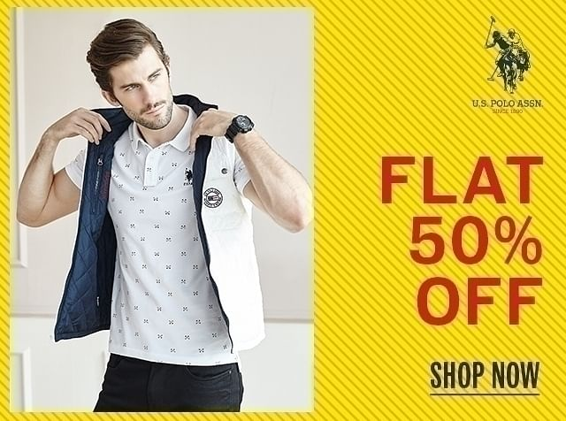 Flat 50% Off on Wide Range of US POLO ASSN. Fashion Collection