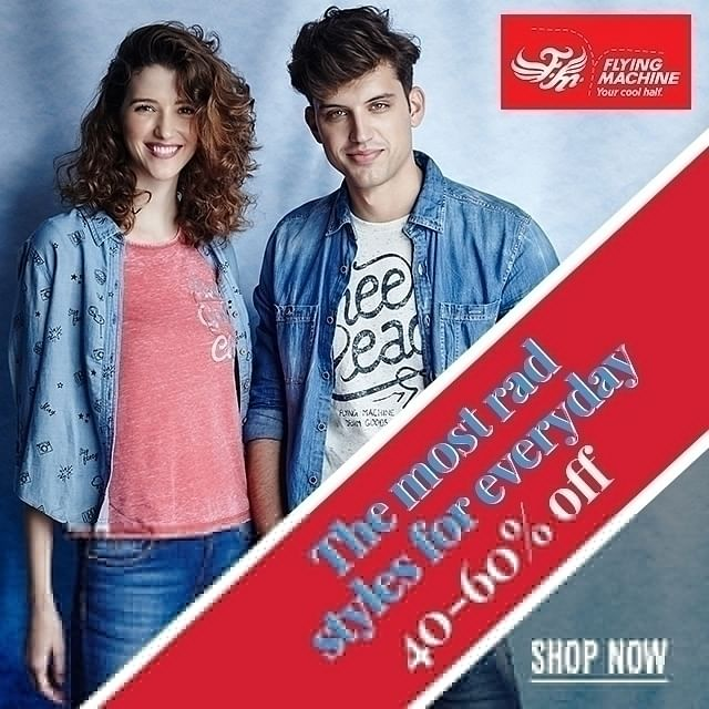 Flat 40-60% Off on Flying Machine Fashion Collection