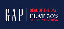Flat 50% Off On Wide Range Of GAP Fashion Collection