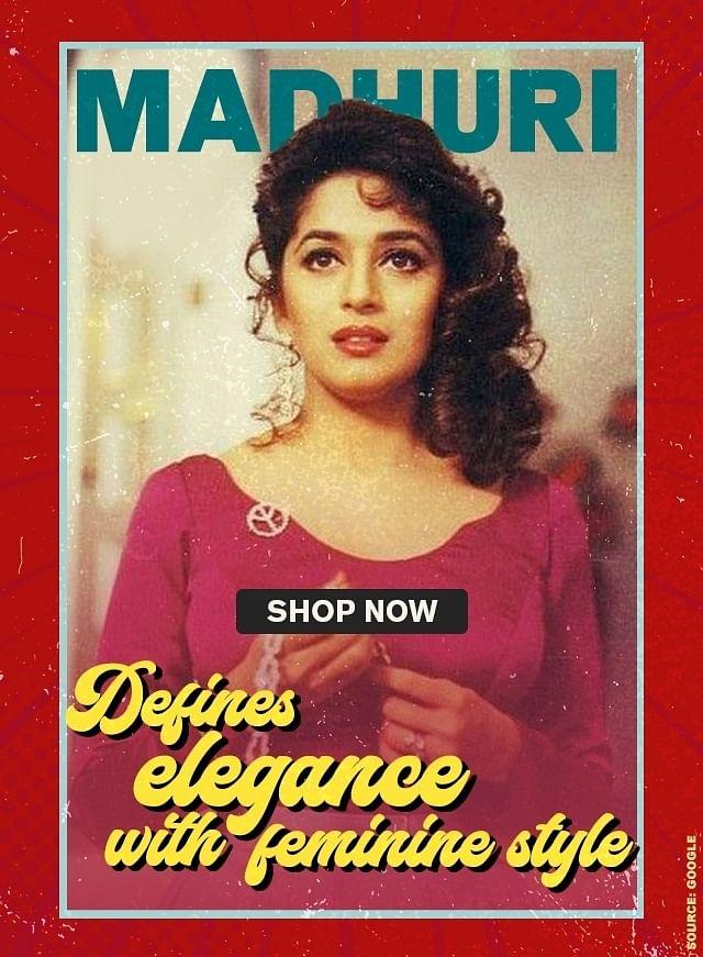 Madhuri defines elegance with feminine style